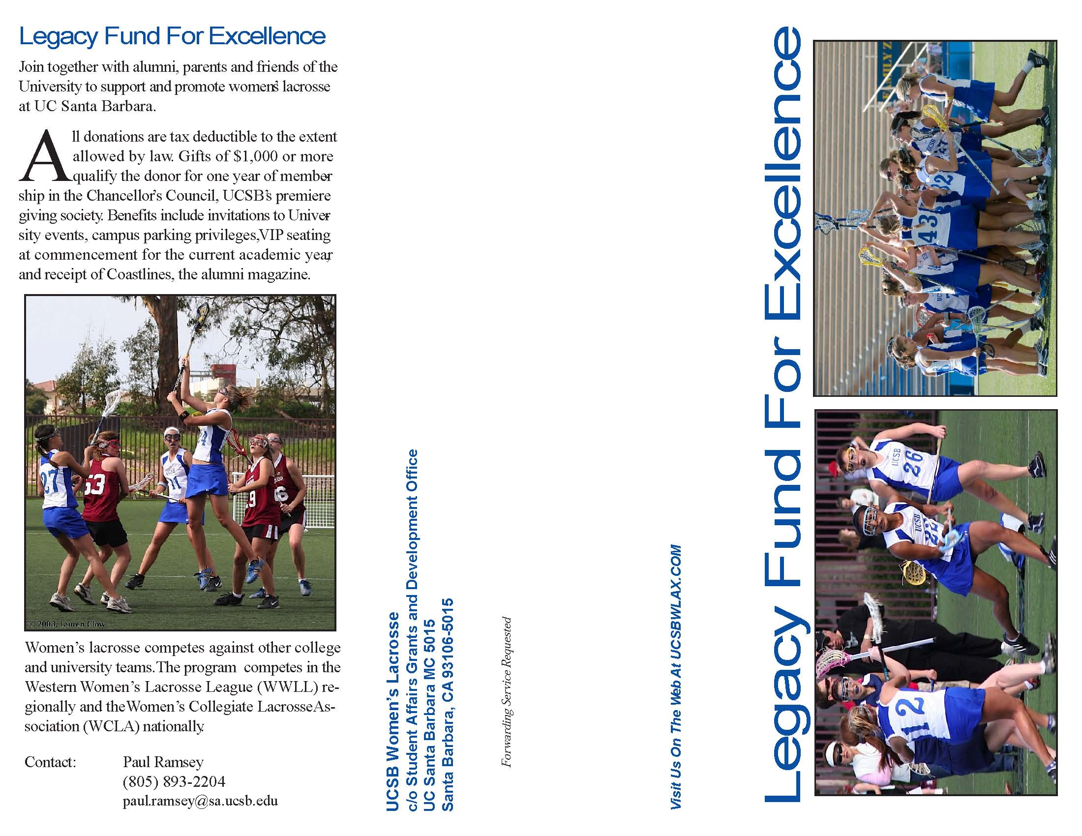 Legacy Fund For Excellence Brochure