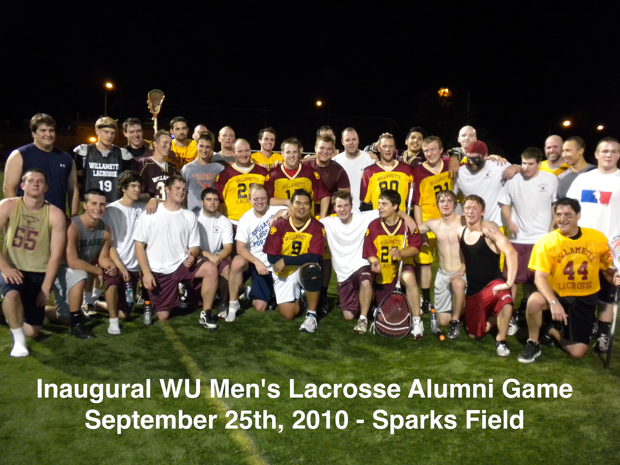 Alumni and playes at Inaugural Alumni Game in 2010