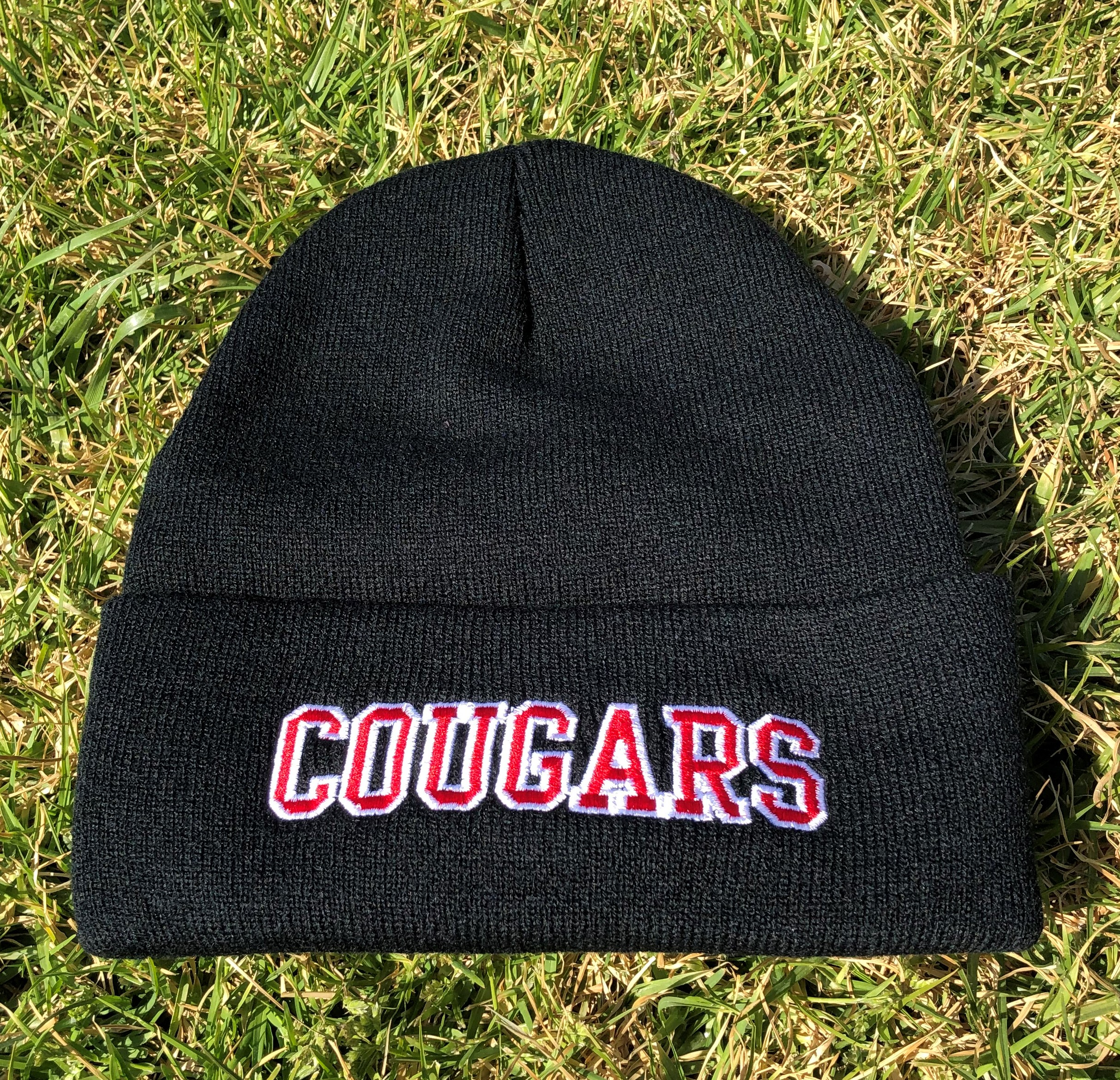 Black Knit cap with