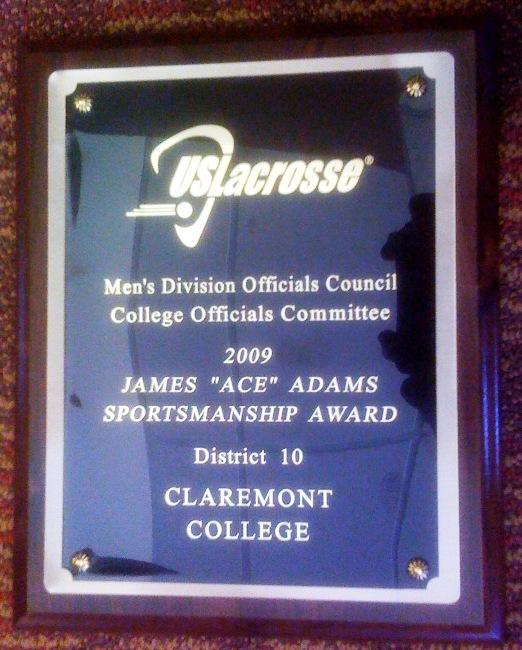 Ace Adams Award 2009