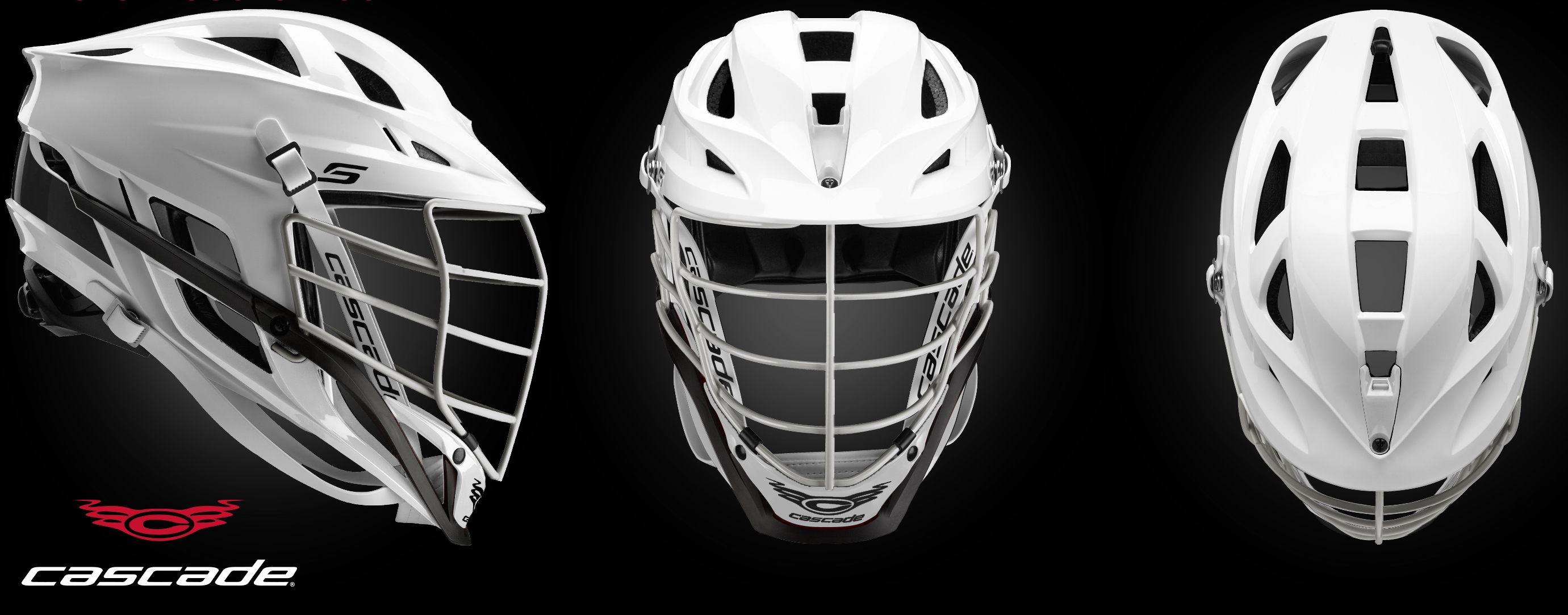 Cascade helmet all white