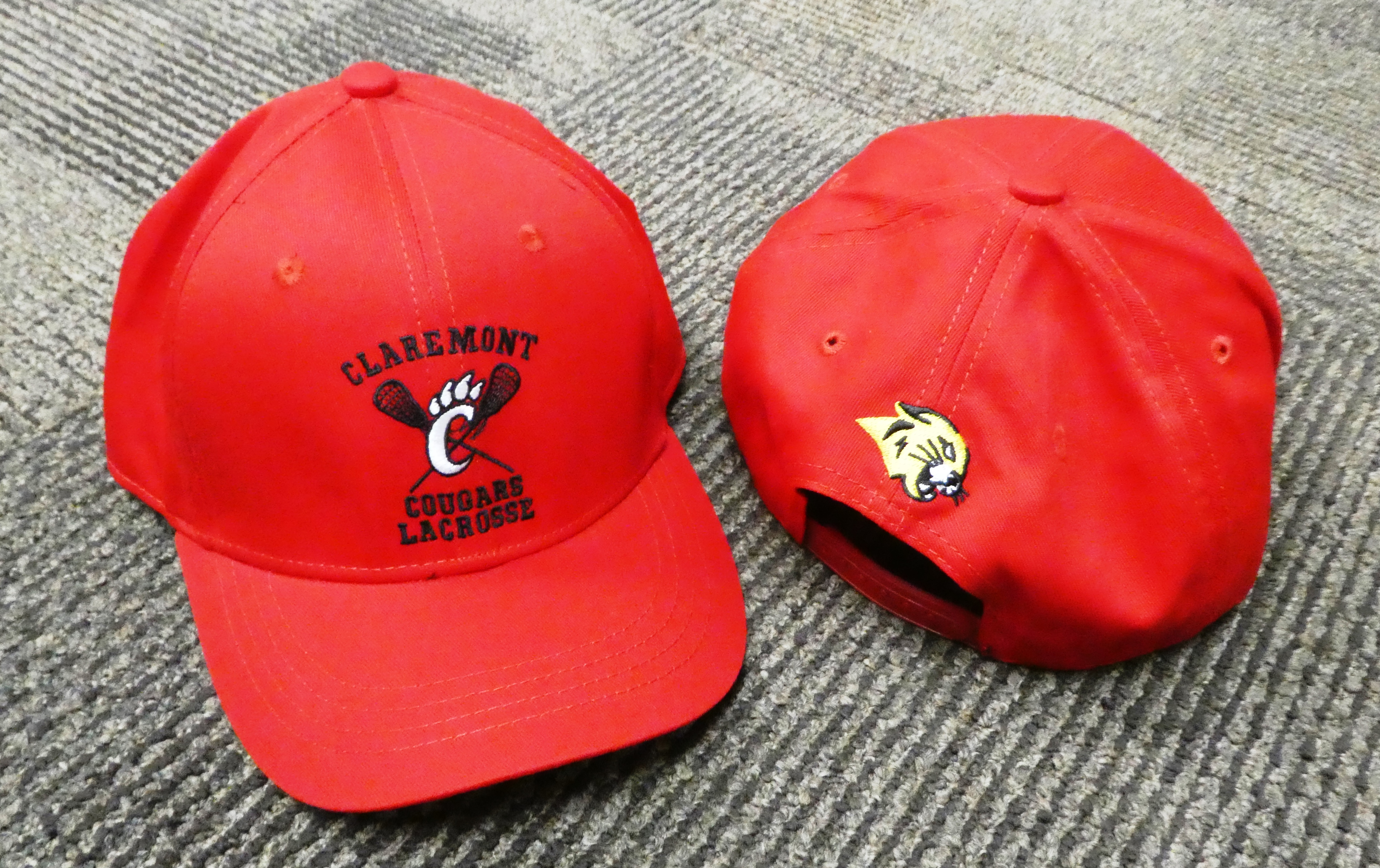 Cougar baseball cap: red with black logo