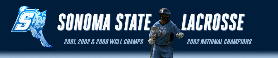 Sonoma State University Men's Lacrosse Logo