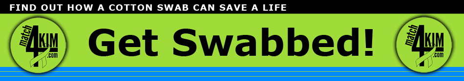 match4kim - Get Swabbed and Save A Life! Logo